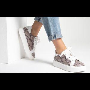 JLO Angelique Snake Print Platform Sneaker